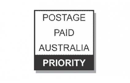 Priority Postage Paid Stamp