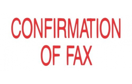 CONFIRMATION OF FAX