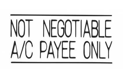 NOT NEGOTIABLE A/C PAYEE ONLY